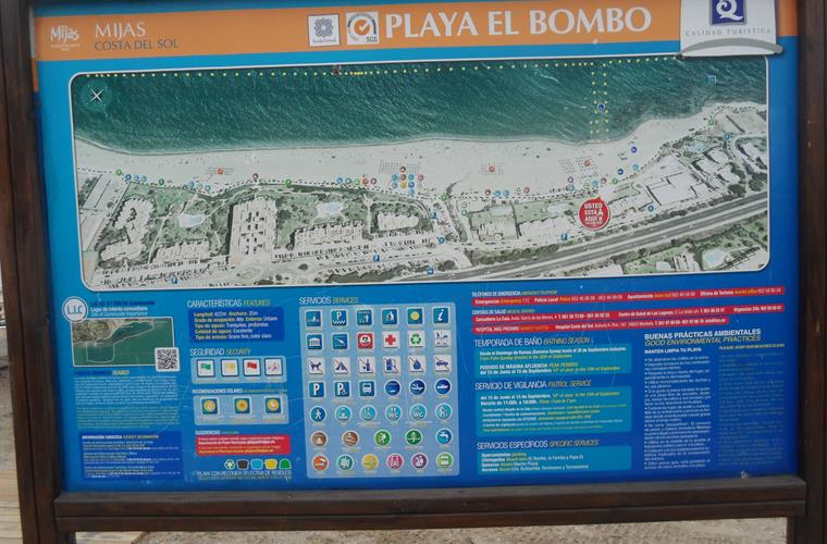 One of the better beaches in the area is called Playa El Bombo.
