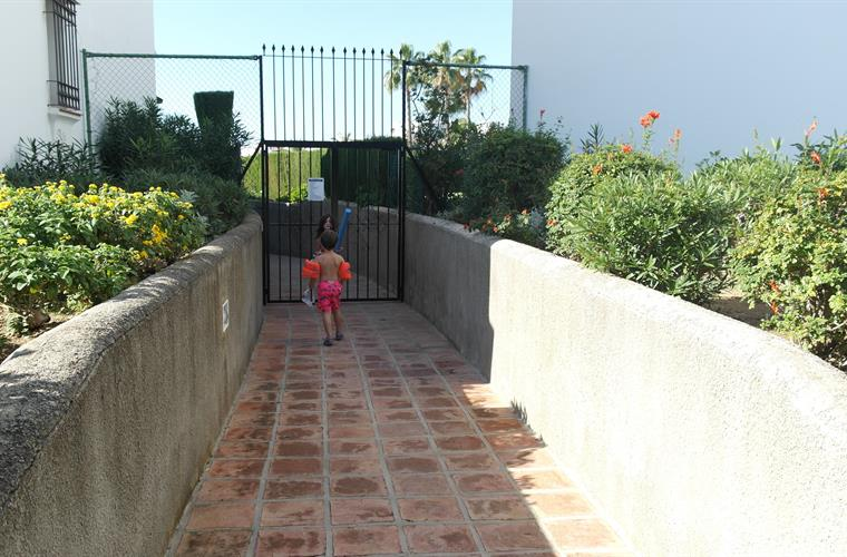 Gate to the pool.