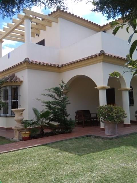Front/side view of villa