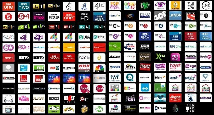 Freesat channels list with over 200 channels to enjoy...