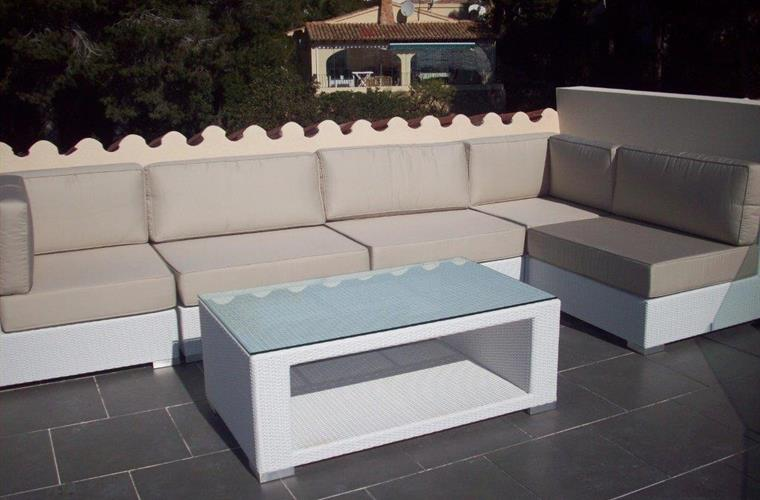 Lounge corner on  roof terrace