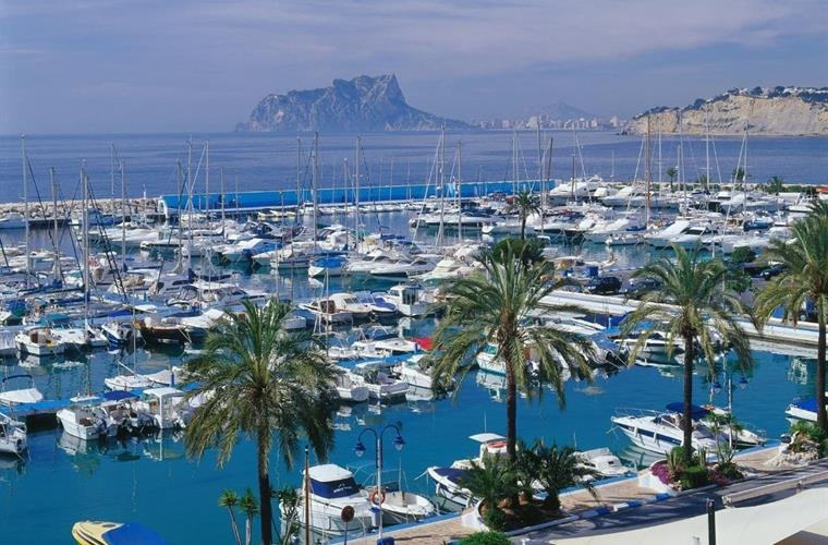 For those who like to be on the water Moraira marina.