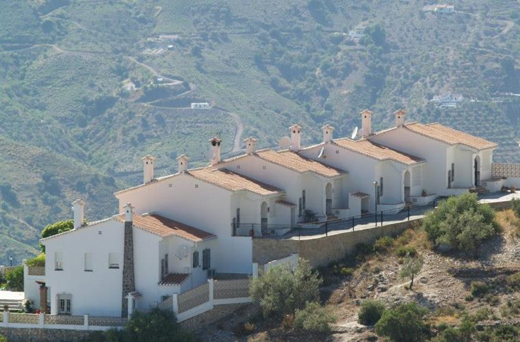 View to Casa Anne from the mountain side