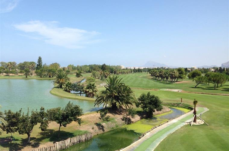 View of the Ballesteros designed Oliva Nova course from club house