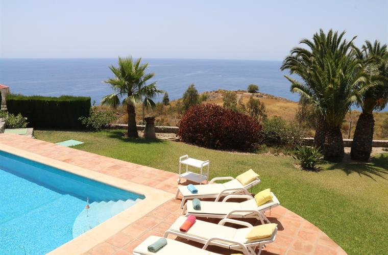 pool , terrace with 12 sun beds