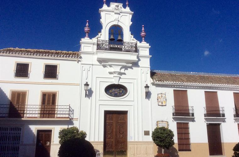One of the many churches in the nearby towns of MIJAS and Alhaurin