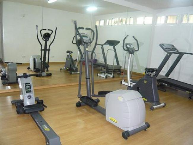 Fitness centre available in winter.