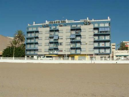 Apartment building from the beach