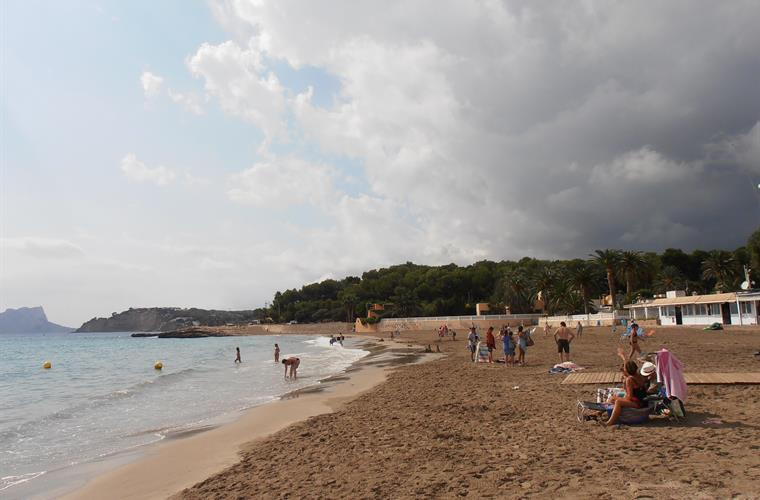 October 2016, the beach of Moraira.