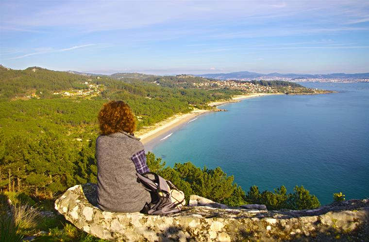 Viewpoint over the beaches of Nerga, Viño and Barra