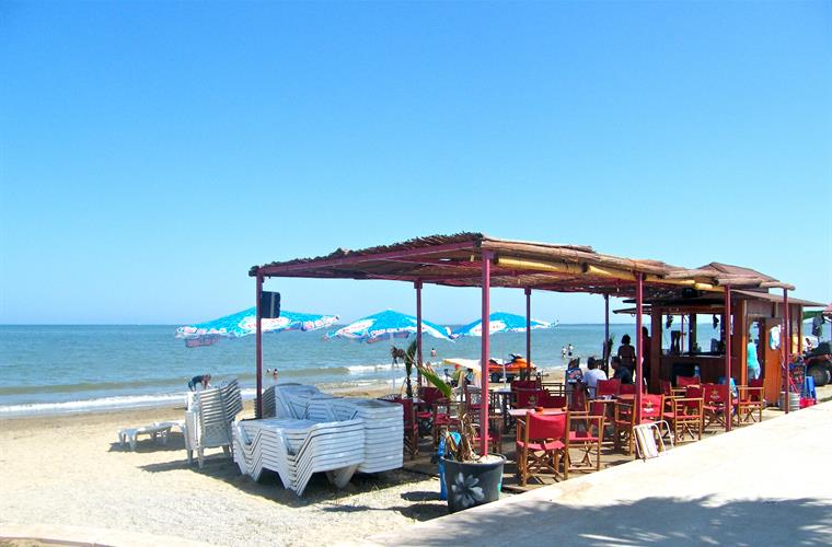 The beach bar on the Arenal beach just 5 minutes on foot