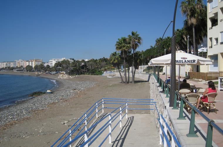 A very quiet La Rada beach in March
