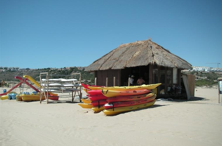 Pedalos and canoes for hire