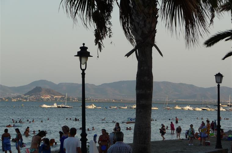 Another Mar Menor beach! In the evening.