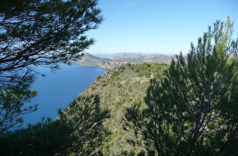View over part of Calblanque National Park, 10 minutes away.