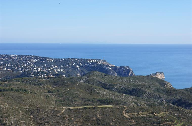 Looking from Cumbre del Sol towards Ibiza