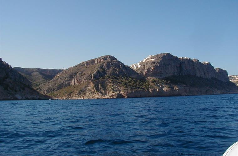 Some guests took this from their boat - the villa is on the hill!