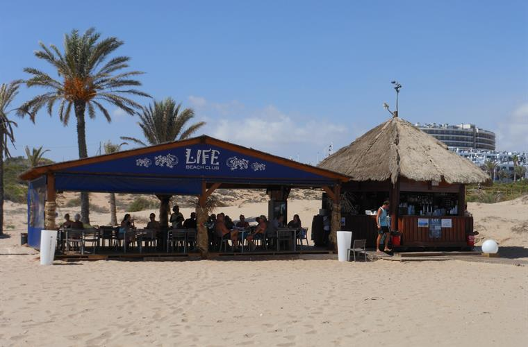 Life Beach Club with bar and cafe