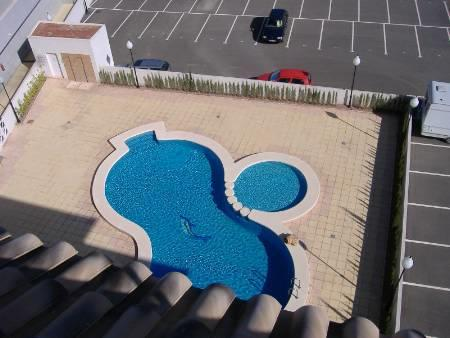 View of pool from roof