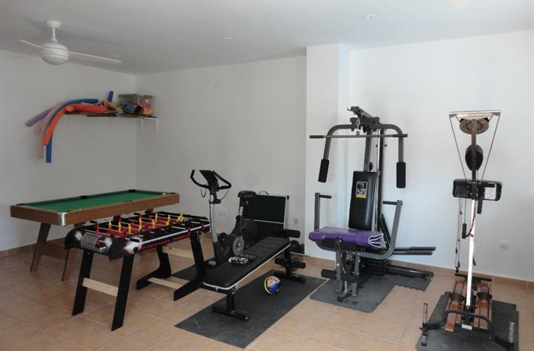 Games room, pool and table football plus gym
