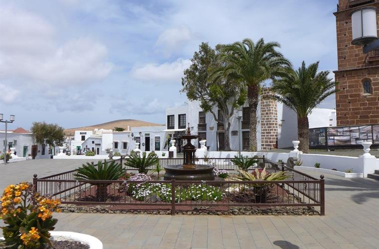 Teguise with its quaint shops, cafes and famous market