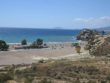 Bolnuevo beach front of house
