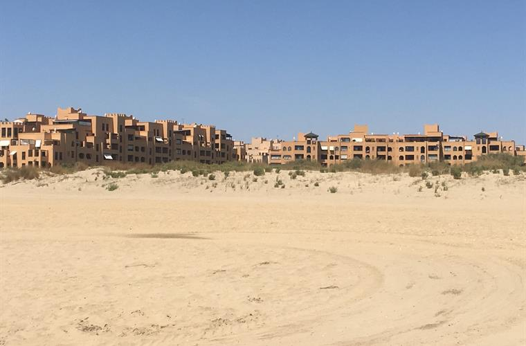 the apartments from the beach