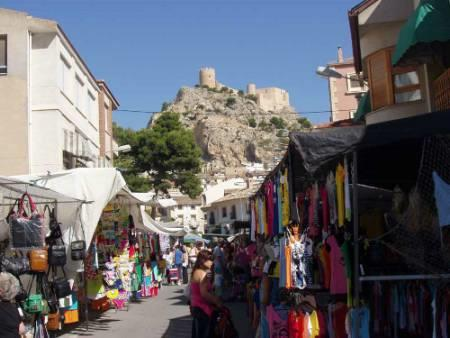 Castalla town on market day