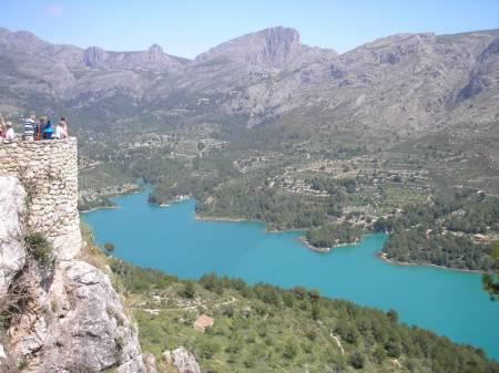 Guadalest castle and reservoir