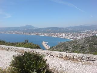 Javea port and Arenal beach looking towards Moraira