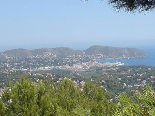 Moraira with Casa Sarah to left of picture