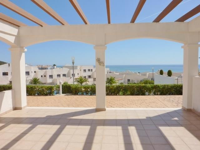 Large terrace with views of Swimming pool, Sea and Mountains