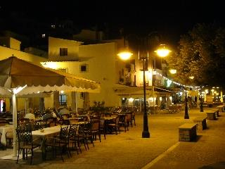 Moraira 's marina area at night