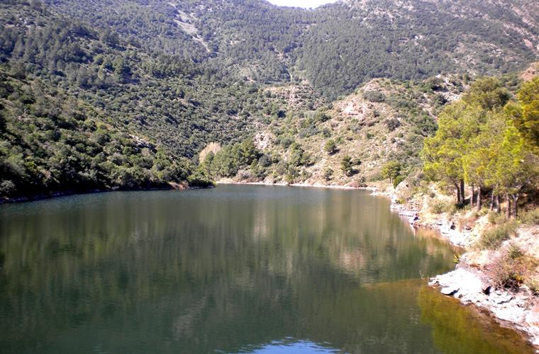 The reservoir in Port-Bou