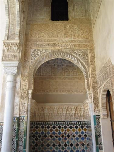 detail from the famous Alhambra in Granada