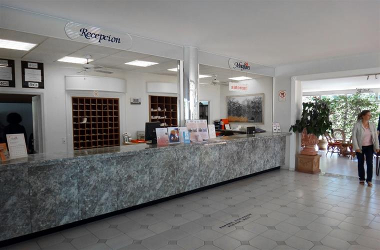 Reception located down the road for key pick up & car hire etc