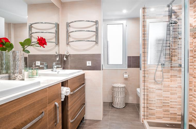 Bathroom with His & Hers sinks