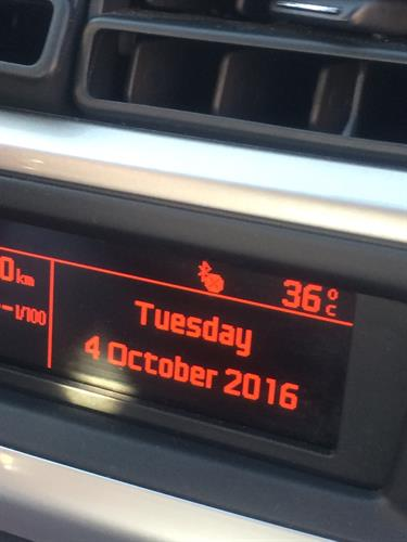 temperature in October 2016!