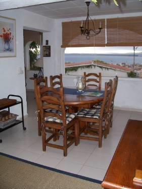 Dining room with sea views