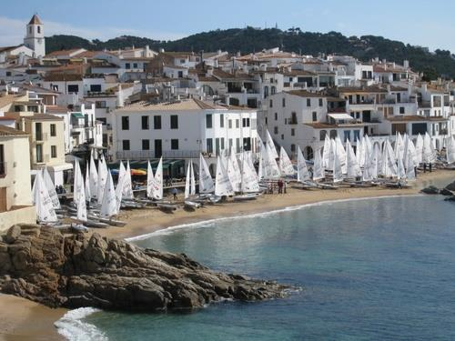 Sailing event in Calella