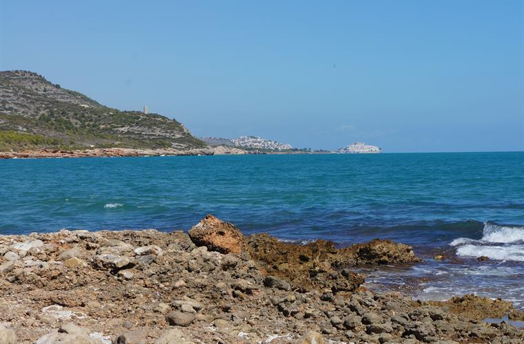 View of Peniscola from along the coast