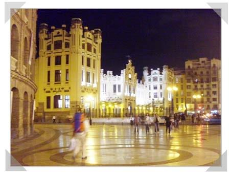 Valencia City at night