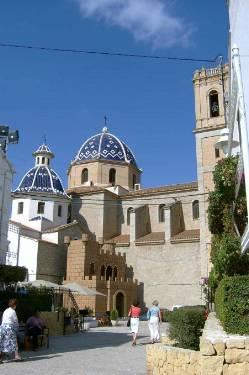 The lovely church in the old town of Altea
