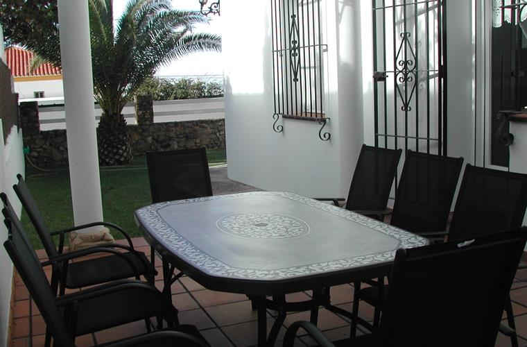 Terrace by the kitchen perfect for meals & dinners with barbeque.