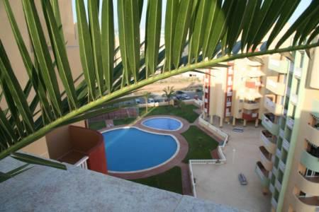 apartment with communal pool in La Manga
