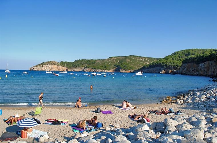 Cala Montgó beach (Costa Brava), 37 km. from the House