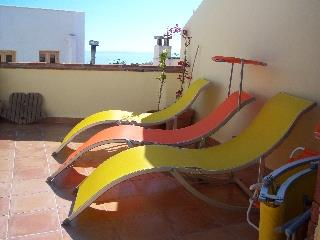 Loungers on terrace