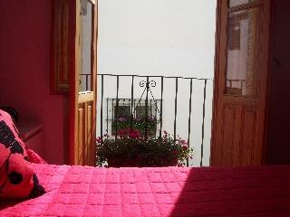 another view of red bedroom