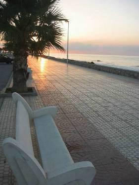 Sunset along the promenade in Alcossebre