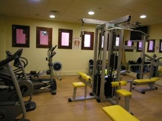 Well-equipped gym in leisure centre
